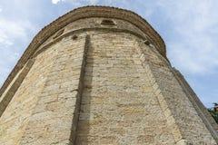 哥特式教会在卡塔龙尼亚 免版税库存图片