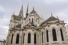 哥特式教会在法国 免版税库存照片