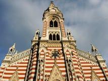 哥特式教会在波哥大,哥伦比亚。 免版税库存照片