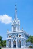 哥特式教会在泰国 图库摄影