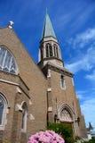 哥特式教会在Bellingham, WA 库存照片