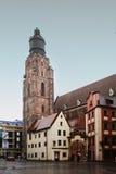 哥特式教会在Wrocaw,波兰 库存照片