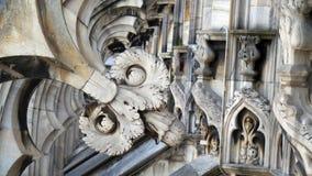 哥特式教会大教堂米兰意大利 免版税库存照片