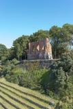 哥特式教会废墟从位于Trzesacz的14/15世纪在波罗的海附近 免版税图库摄影