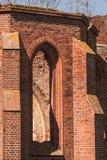 哥特式教会废墟 免版税库存图片