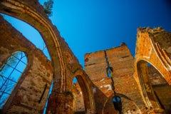 哥特式教会废墟 库存图片