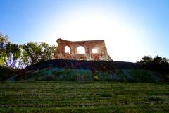 哥特式教会废墟从14/15th centur的在Trzesacz,波兰 免版税库存图片