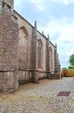 哥特式教会用法语布里坦尼 免版税库存照片