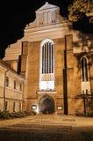 哥特式教会的门面 图库摄影