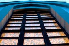 哥特式教会窗口 库存照片