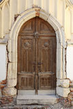 哥特式教会门道入口 免版税库存图片