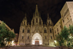 哥特式教会,巴塞罗那 库存照片