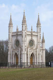 哥特式教堂一天在4月 peterhof 免版税图库摄影