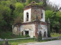 哥特式教堂废墟在基瓦索,意大利 图库摄影
