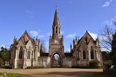 哥特式教堂Hampstead公墓 库存照片