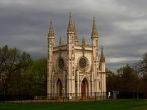哥特式教堂Peterhof市圣徒peterburg 库存照片