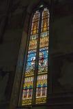 哥特式方济会教区教堂内部在凯斯特海伊,匈牙利 库存照片