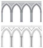 哥特式曲拱的列 免版税图库摄影