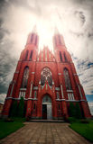 哥特式样式的教会 免版税库存图片