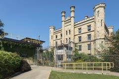 哥特式样式老监狱在Joliet 免版税库存图片