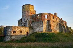 哥特式王侯的城堡在谢维日,波兰 图库摄影