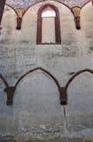 哥特式的曲拱 库存照片