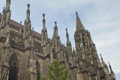 哥特式结构的教会 库存照片