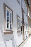 哥特式视窗在布拉格 免版税库存图片