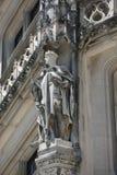 哥特式骑士雕象 免版税库存照片