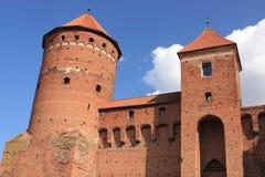 哥特式14世纪城堡在雷谢尔(波兰) 库存图片
