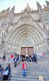 哥特式巴塞罗那大教堂(Catedral de巴塞罗那) 免版税图库摄影
