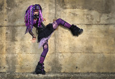 哥特式cyber的女孩 免版税库存照片