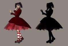 哥特式lolita 图库摄影