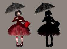 哥特式lolita 皇族释放例证