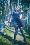 哥特式lolita 免版税库存图片