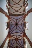 哥特式St伊丽莎白教会的内部在弗罗茨瓦夫 库存图片