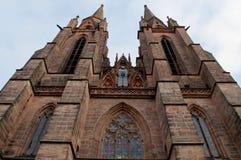 哥特式St Elizabeths教会在马尔堡 水平 库存照片