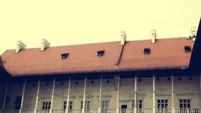 哥特式Wawel城堡在克拉科夫在波兰 库存图片