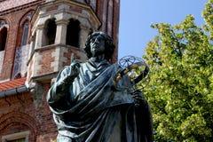 哥白尼的纪念碑在托伦 库存照片