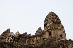 吴哥窟在柬埔寨 库存照片