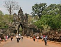 吴哥窟在柬埔寨 免版税库存图片