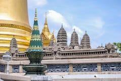 吴哥窟复制品盛大宫殿的,曼谷 图库摄影