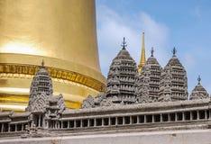 吴哥窟复制品盛大宫殿的,曼谷 库存照片