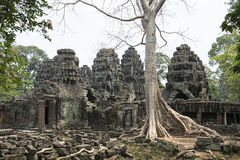 吴哥窟废墟和寺庙  柬埔寨收割siem 库存照片