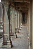 吴哥窟废墟在密林 图库摄影