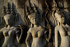 吴哥窟柬埔寨的寺庙艺术 库存照片