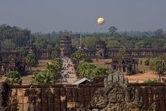 吴哥窟的,柬埔寨庭院 库存照片