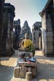 吴哥窟的Budda国王 库存图片
