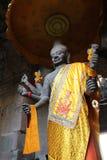 吴哥窟雕象早晨,柬埔寨 免版税图库摄影