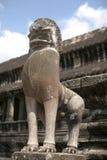 吴哥窟雕象早晨,柬埔寨 免版税库存照片
